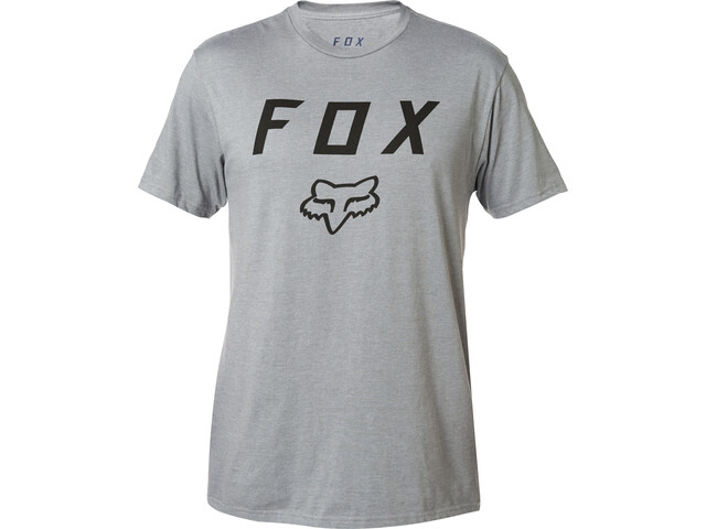 Fox Legacy Moth Basis SS Shirt Heren, heather graphite